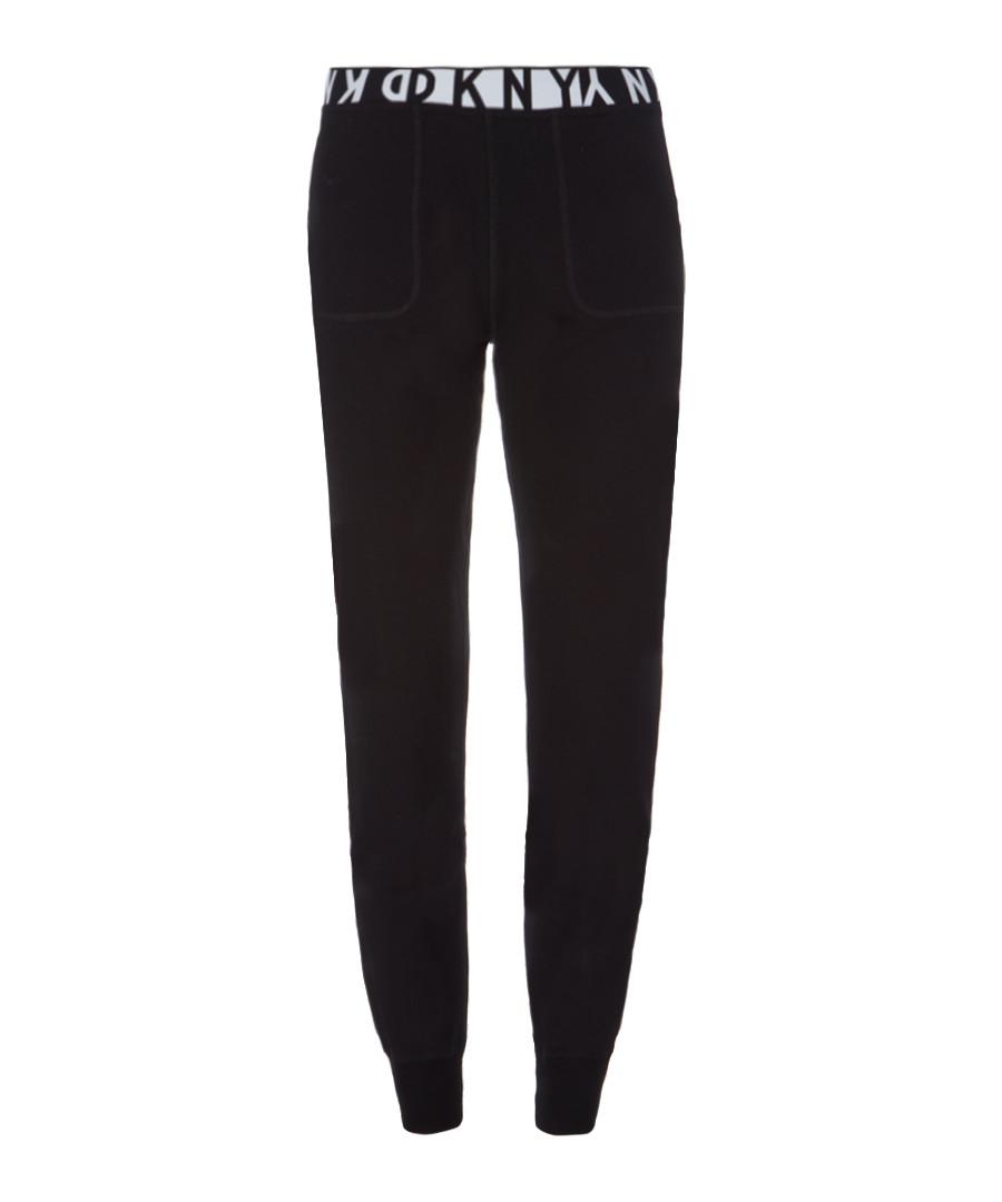 Black slim fit tracksuit bottoms Sale - dkny