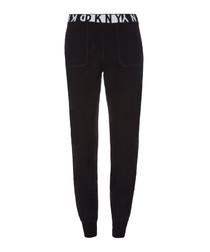 Black slim fit tracksuit bottoms