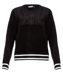 Black pullover sweatshirt