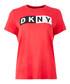 Red logo crew neck T-shirt Sale - dkny Sale