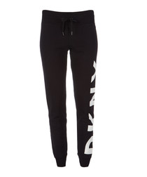 Black & white logo tracksuit bottoms