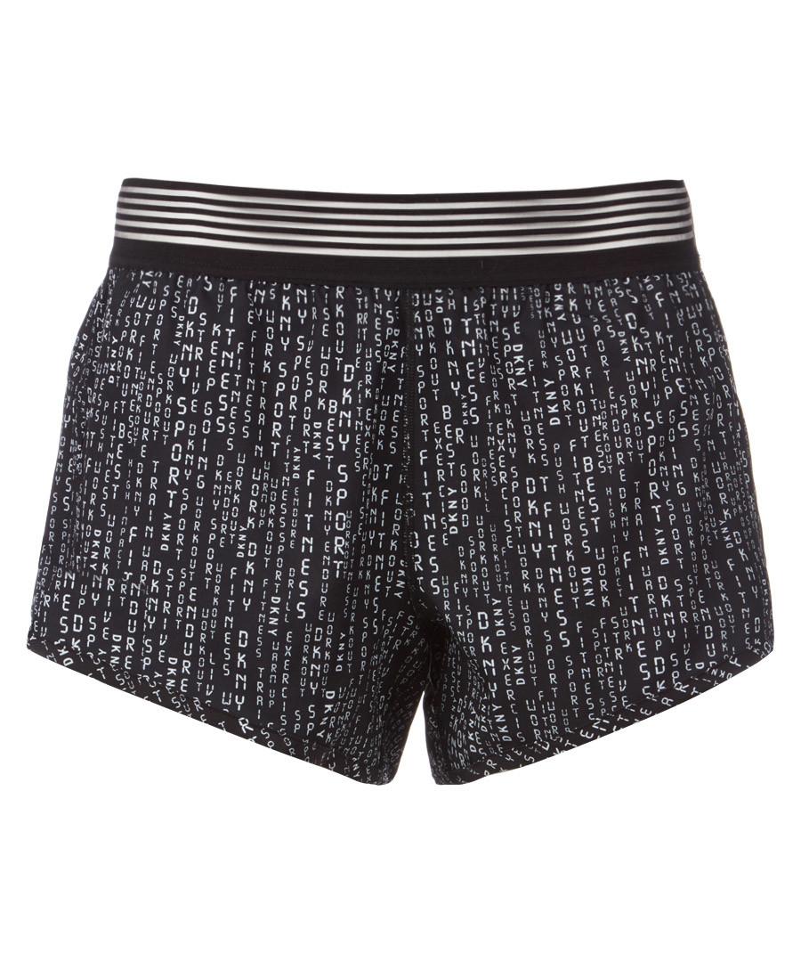 Matrix black printed shorts Sale - dkny