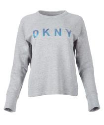 Grey logo pullover sweatshirt