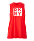 White & red logo tank top Sale - dkny Sale