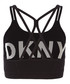 Low Impact black & white sports bra Sale - dkny Sale