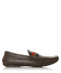 Billion Di brown leather loafers