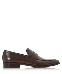 Predictable brown leather loafers