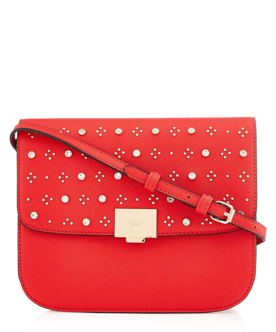 Red embellished fold-over crossbody Sale - dune