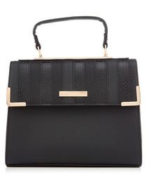 Black stripe shoulder bag