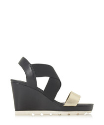 Kos black wedges