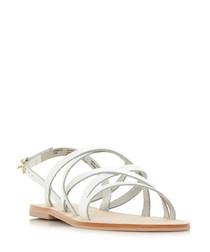 Landoo white leather sandals