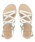 Landoo white leather sandals Sale - dune Sale