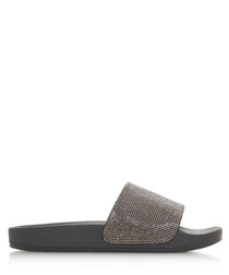 Latitude black casual slip-on flats