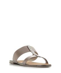 Llora grey double strap sandals