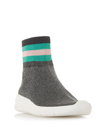 Ecstatic multi-colour sock sneakers