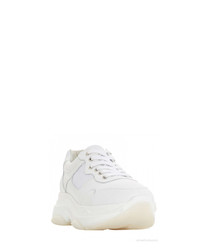 Escape white leather sneakers