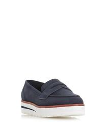 Gabyrel navy suede loafers