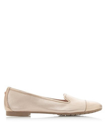 Genevene rose gold-tone leather loafers