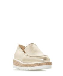 Genie gold-tone flatform loafers