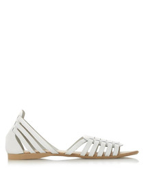 Gili white leather gladiator sandals