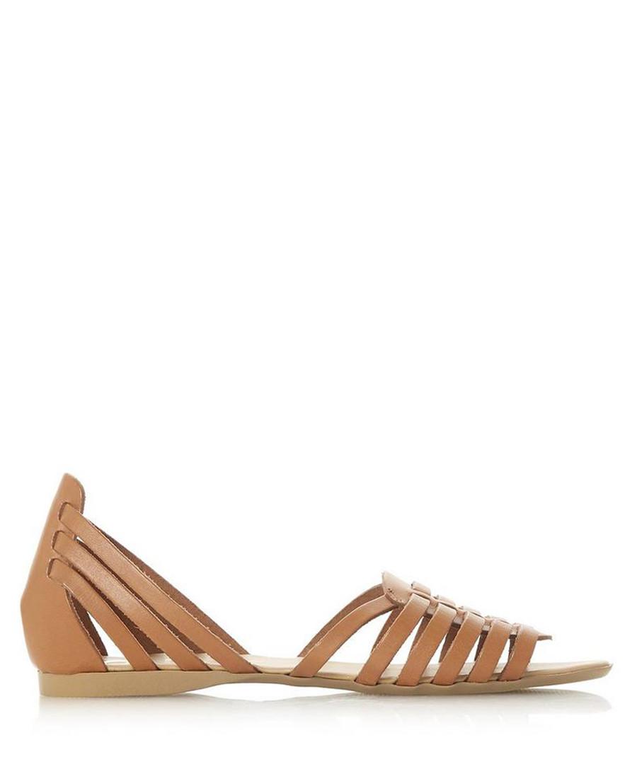 Gili tan leather gladiator sandals Sale - dune