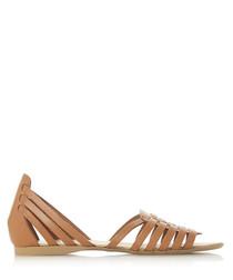 Gili tan leather gladiator sandals