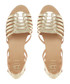 Gili gold-tone leather gladiator sandals Sale - dune Sale