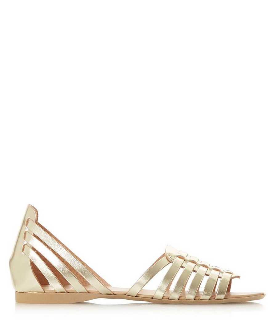 Gili gold-tone leather gladiator sandals Sale - dune