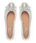 Hennah silver-tone leather ballet pumps Sale - dune Sale