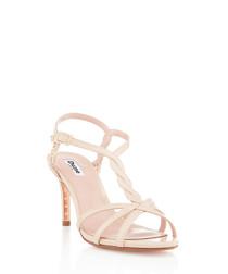 Mystick nude strappy heel sandals