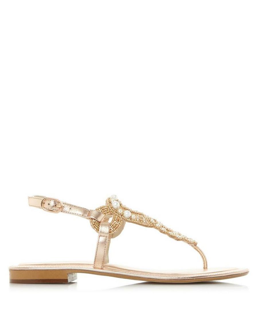 Neverland rose gold-tone sandals Sale - dune