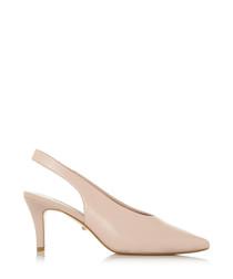 Cas blush suede slingback court heels