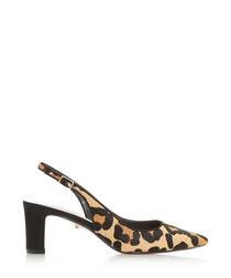 Conde leopard print slingback heels