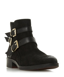 Pheonixx black buckle ankle boots