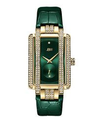 Mink gold-plate & diamond watch