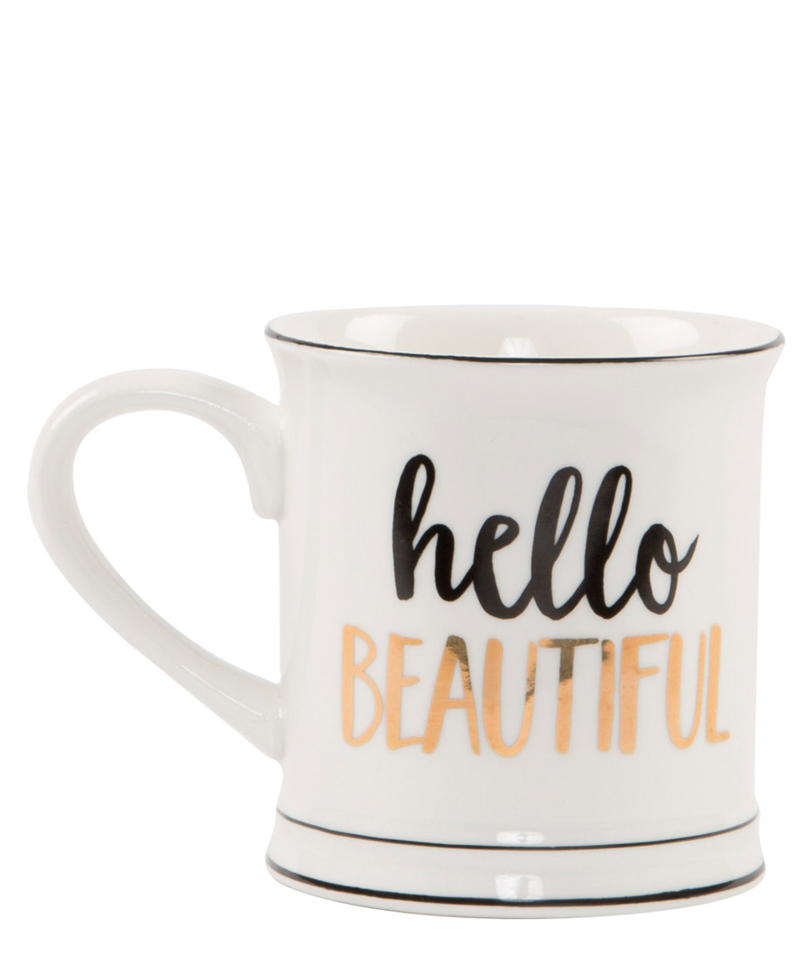 Hello Beautiful porcelain Mug Sale - sass & belle