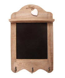 Pinewood Scalloped 3-hook Blackboard