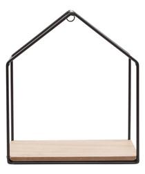 Jet Black iron House Shelf 20.5cm