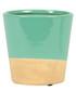 Turquoise Dip stoneware Planter 7.3cm Sale - sass & belle Sale