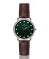 silver-tone & brown leather watch Sale - frederic graff Sale