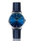 silver-tone & blue leather watch Sale - frederic graff Sale