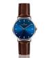 silver-tone & walnut leather watch Sale - frederic graff Sale