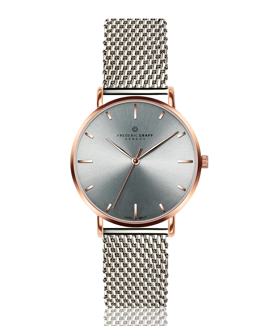 stainless steel mesh & grey watch Sale - frederic graff