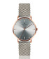stainless steel mesh & grey watch Sale - frederic graff Sale
