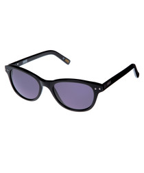 black slim D-frame sunglasses