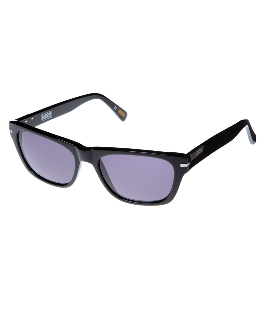 black slim D-frame sunglasses Sale - barbour