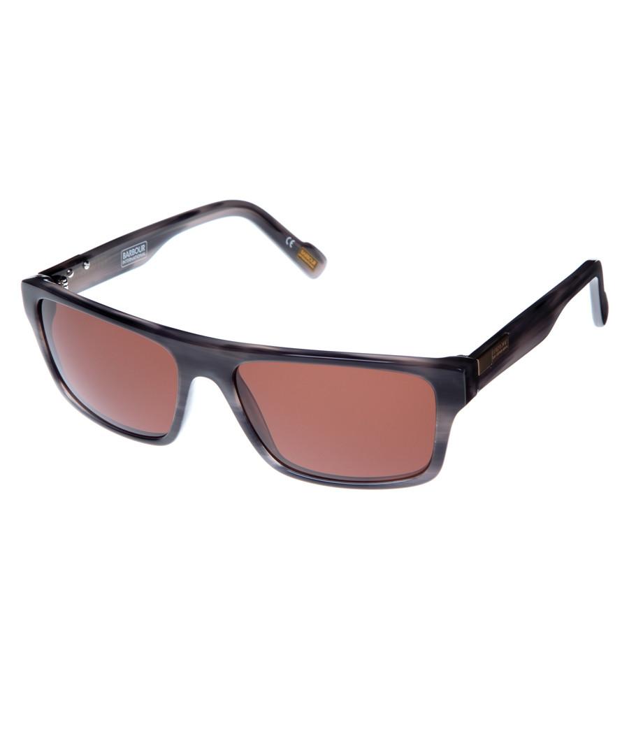 grey Havana squared sunglasses Sale - barbour