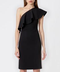 Andes black one-shoulder dress