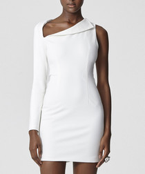 Aphaea white fold one-sleeve dress