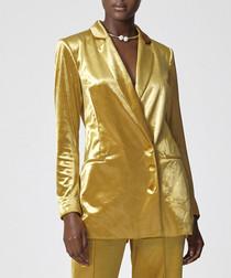 Jocelyn gold shimmer blazer